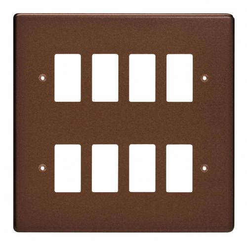 Varilight XDMPG8 PowerGrid Mocha 8-Gang Grid Plate (Double Twin Plate)